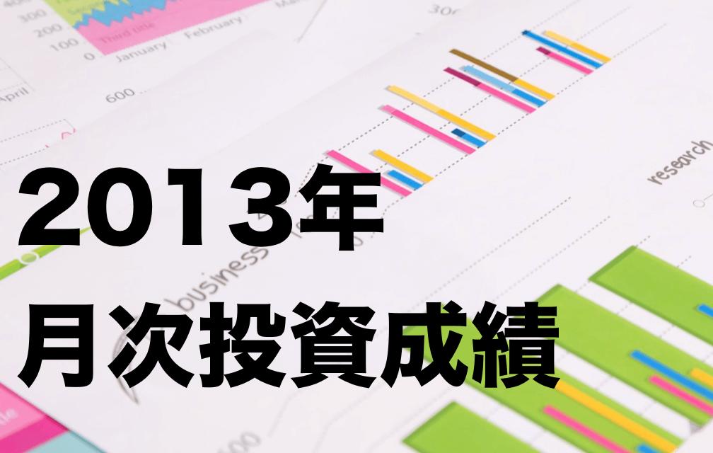 【2013年】8月の投資結果(月次成績)