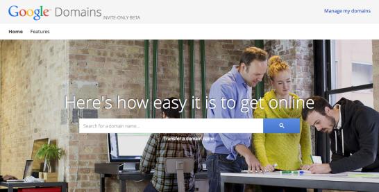 Googleがドメイン登録サービスを提供開始?