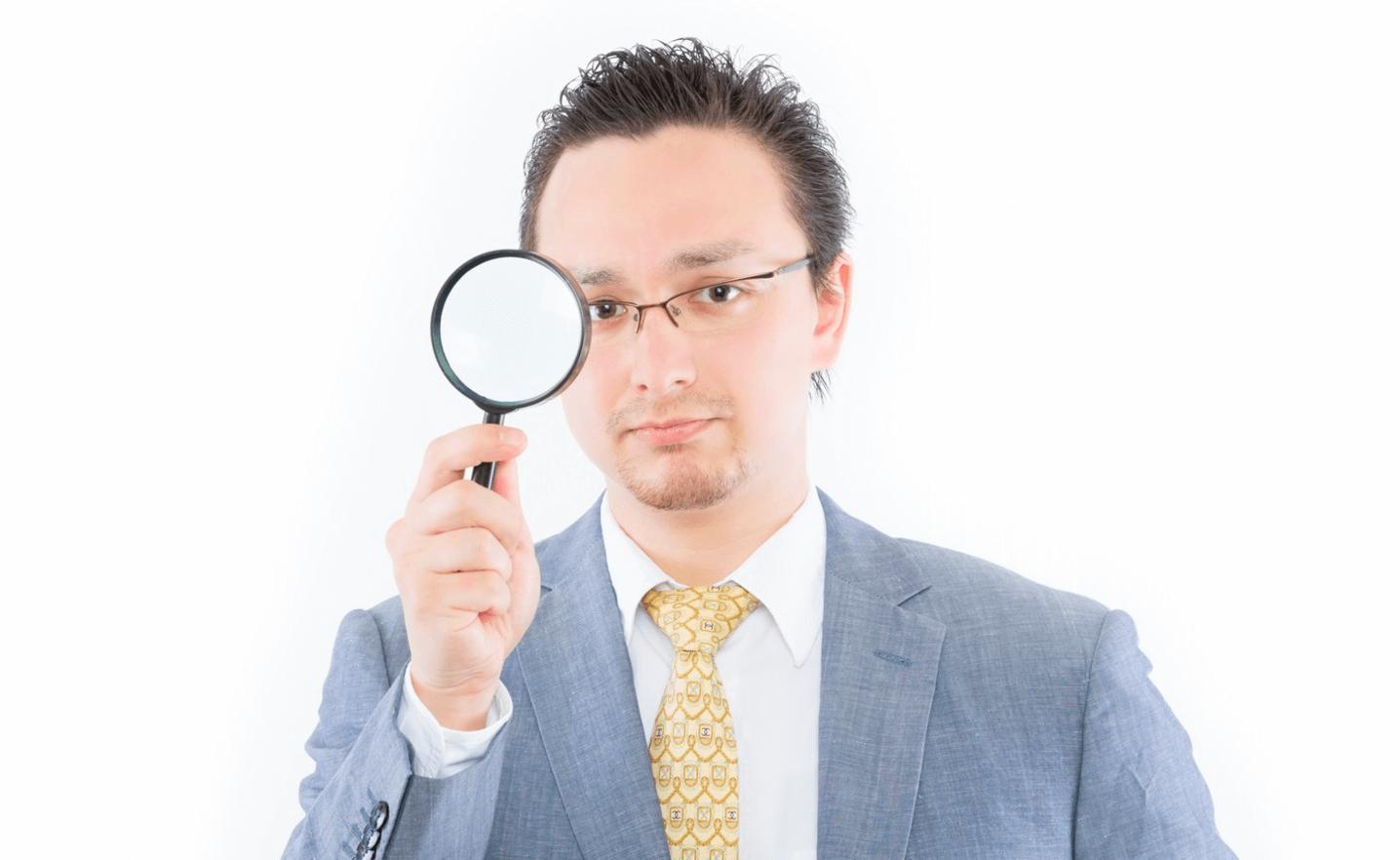 外国人虫眼鏡