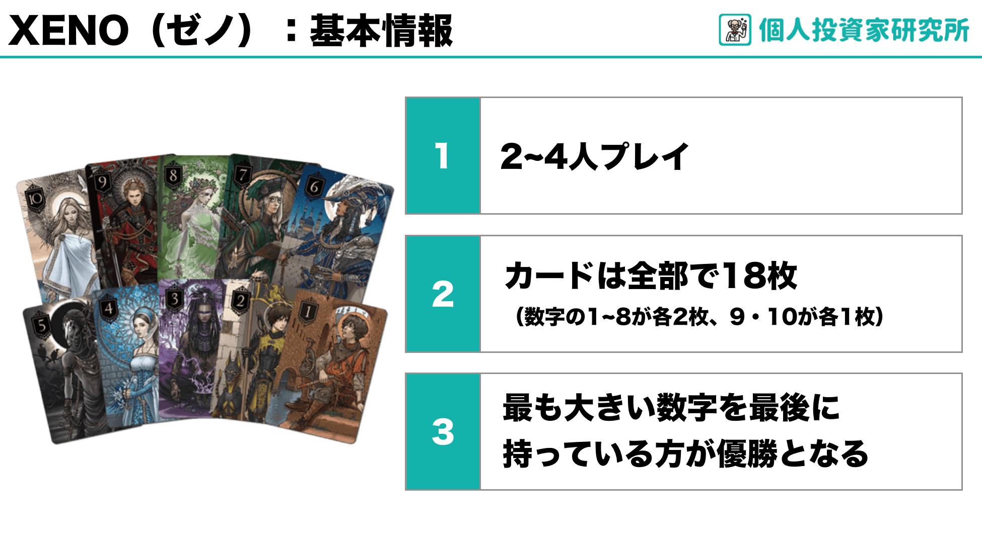 【ルール】中田敦彦さん考案のカードゲーム・XENO(ゼノ)
