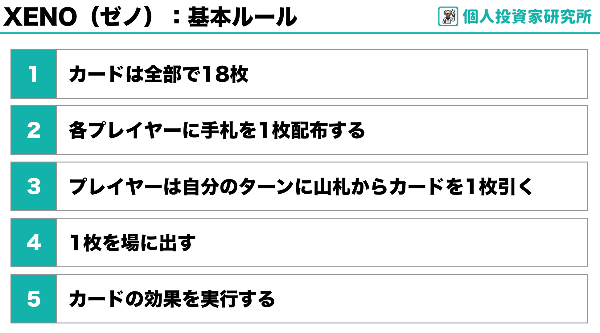 【ルール】中田敦彦さん考案のカードゲーム・XENO(ゼノ)1