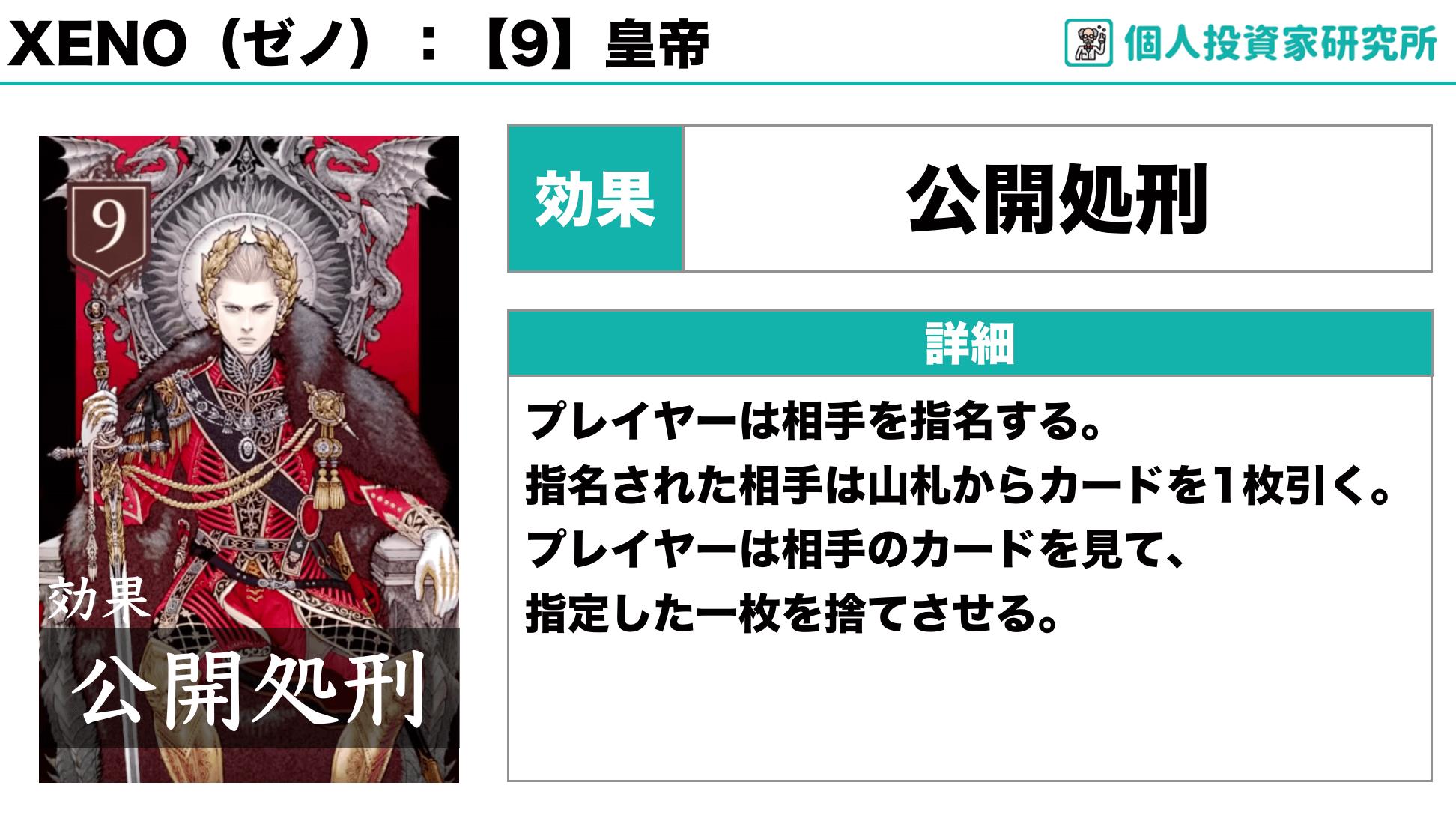 【ルール_カードの効果】中田敦彦さん考案のカードゲーム・XENO(ゼノ)9
