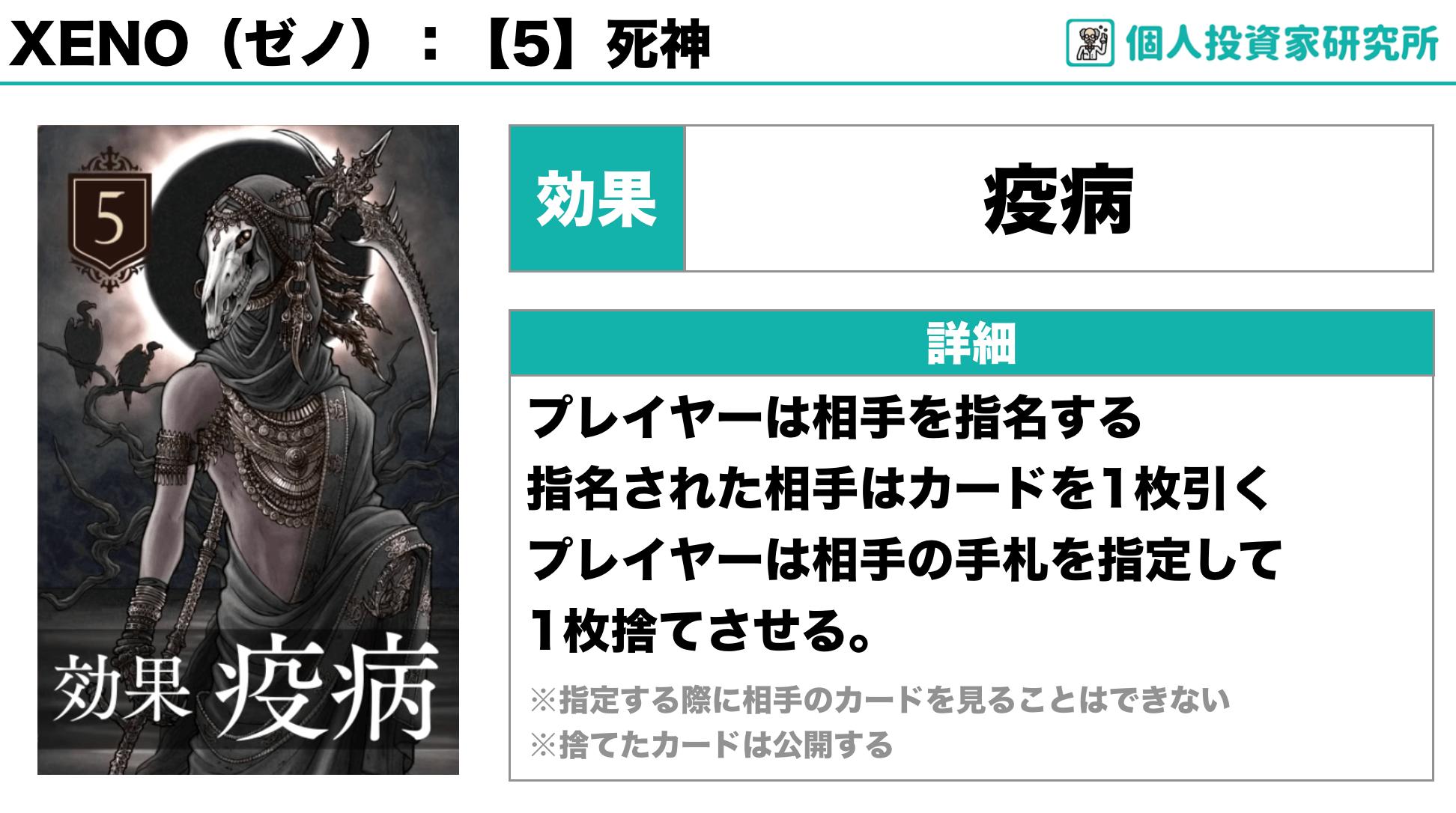 【ルール_カードの効果】中田敦彦さん考案のカードゲーム・XENO(ゼノ)5