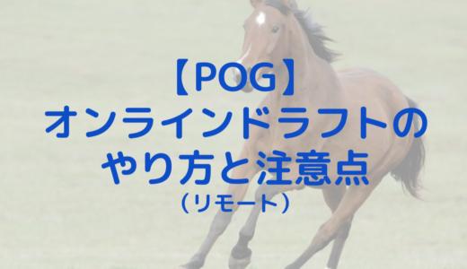 【POG】オンラインドラフト大成功!リモートドラフトのやり方と注意点(画像付き解説)