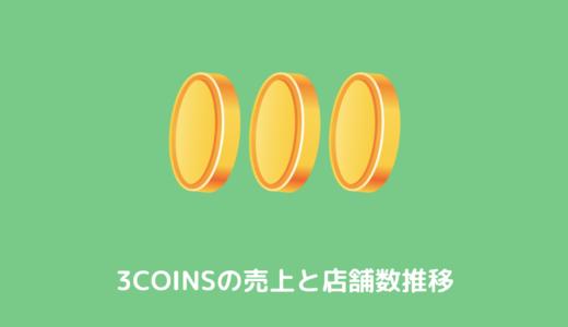 【IR分析】3コインズ(3coins)売上と店舗数推移